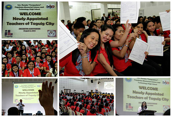 Newly appointed teachers of Taguig City