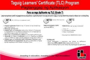 Taguig Learners' Certificate (TLC) - Official Website of The